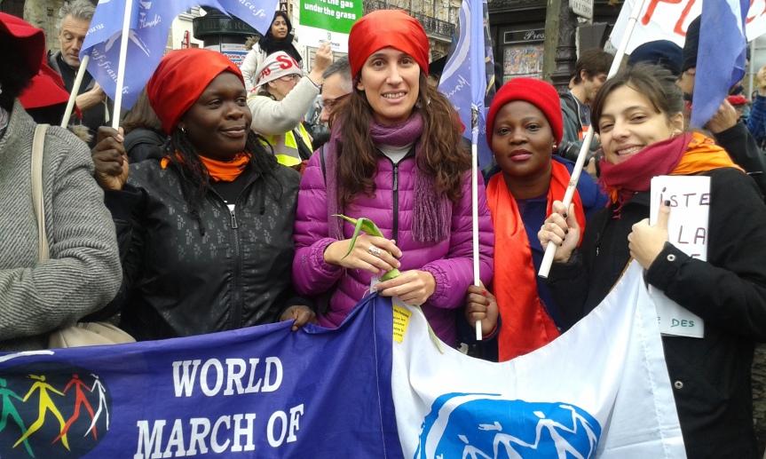 Eva Anadon Moreno, activiste et collaboratrice du Secrétariat Internationale de la Marche Mondiale  expulsée du Mozambique!