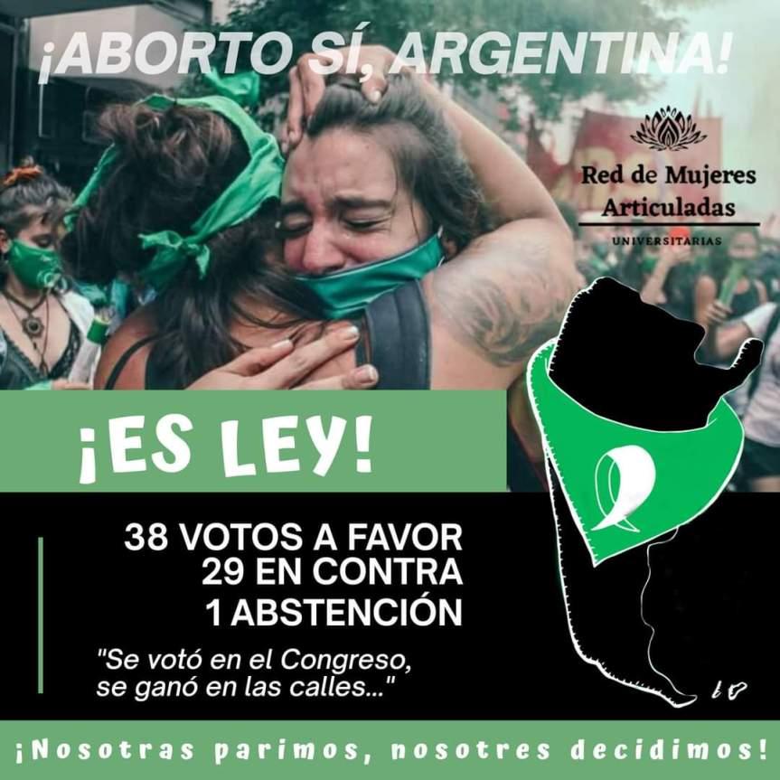 Avortement en Argentine : VICTOIRE!