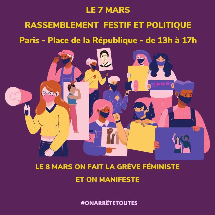 8 mars, journée internationale de lutte pour les droits des femmes!